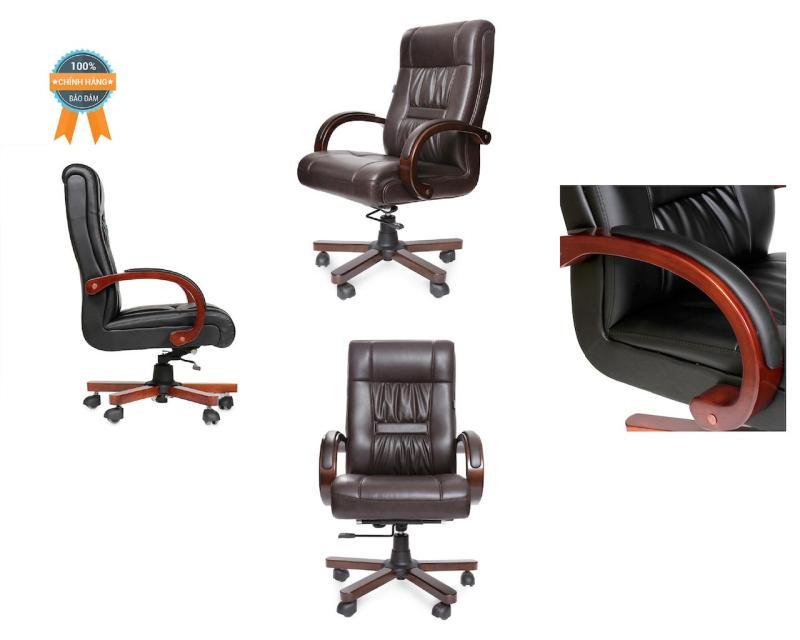 Ghế làm việc da thuộc nhập khẩu Mina Furniture Rof MNEC-18018-U2 (Nâu) giá rẻ