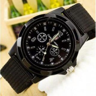 Đồng hồ lính dây dù- đồng hồ quân đội ( đen) thumbnail