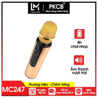 Micro không dây bluetooth kèm loa hát karaoke có khay cắm thẻ nhớ âm thanh vượt trội PKCB PF1019 - Hàng chính hãng thumbnail