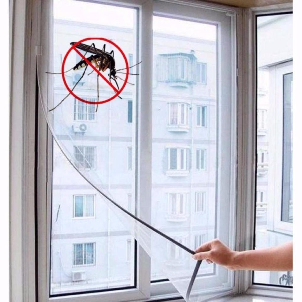Mã Khuyến Mãi Lưới Chống Muỗi, Côn Trùng Dán Cửa Sổ An Toàn Cho Bé (130x150cm)