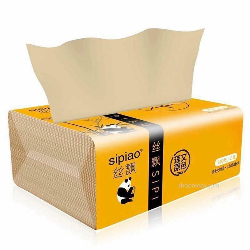 SIÊU KHUYẾN MÃI - Giấy ăn gấu trúc than tre hoạt tính (1 thùng 30 gói hoặc 1 thùng 27 gói, mỗi gói 300 tờ) sử dụng đa năng: giấy ăn, lau mặt, tẩy trang, khăn lau bếp,...