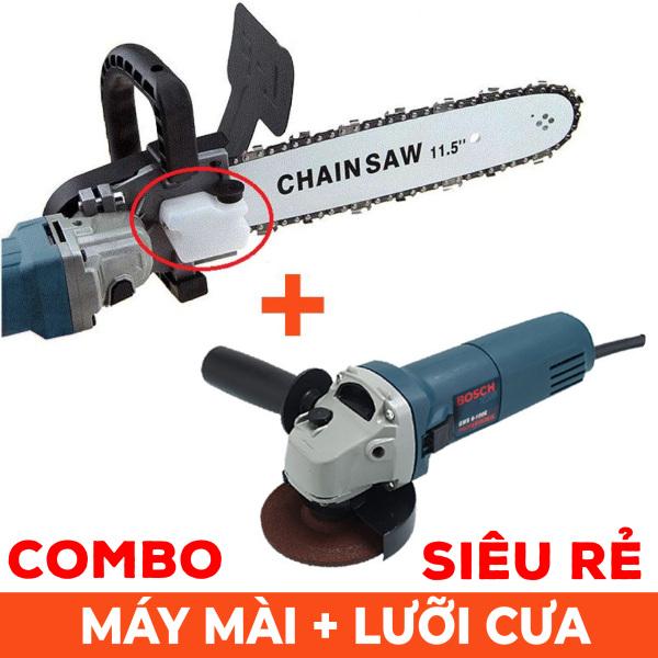 Combo ưu đãi siêu rẻ máy mài góc Bosh + lưỡi cưa xích - Máy cưa cầm tay siêu rẻ - Cưa cành - Cắt gỗ - Lưỡi lam xích