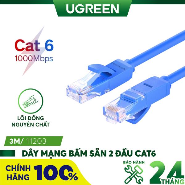 Bảng giá Dây mạng bấm sẵn 2 đầu Cat6 UTP Patch Cords UGREEN NW102 - Hãng phân phối chính thức Phong Vũ