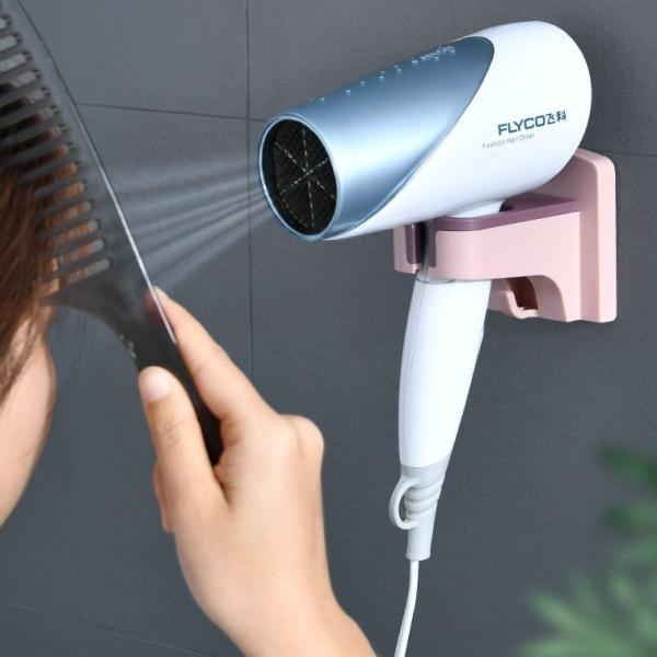 Giá treo máy sấy tóc dán tường tiện dụng