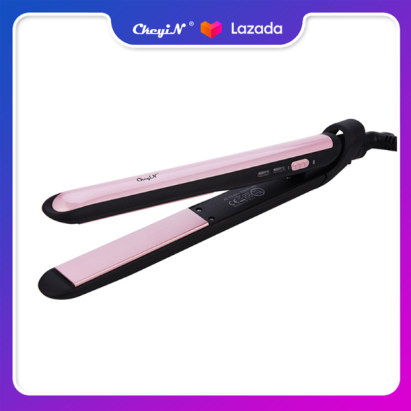 110-220V 2 in 1 Hair Straightener and Hair Curler Wet Dry Dual Use Ceramic Straightening Iron Constant Temperature Hair Care Flat Iron Hair Curling Wand (Purple) HS374Z cao cấp