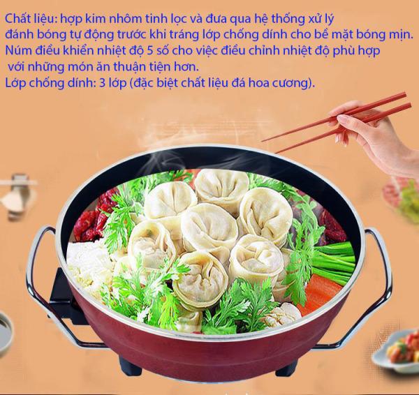 [ HOT NHẤT 2020 GIẢM 50% ] Nồi lâu điện đa năng  OSAKA Nhật Bản lẩu hấp nướng, Bếp Lẩu Nướng 2 Trong 1-Đa Năng, Nấu Lẩu, Kho Cá-Hấp-Nấu Canh , bh 12 tháng lỗi 1 đổi 1