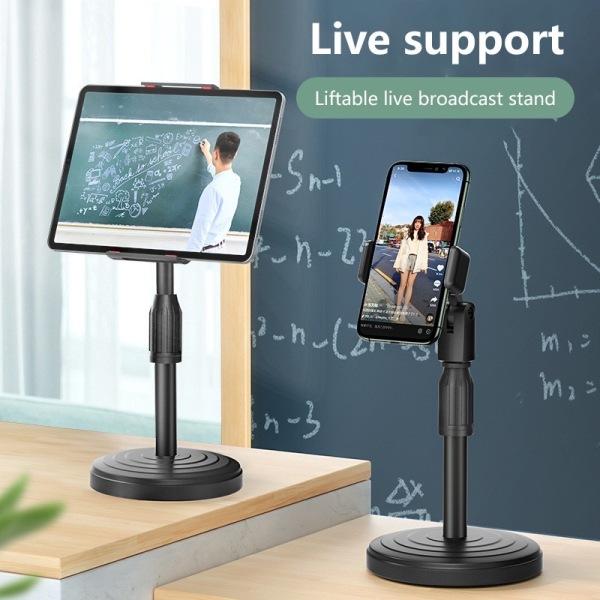 Giá Đỡ Điện Thoại Di Động cao cấp xoay 360 độ có điều chỉnh độ cao phù hợp - Giá Đỡ kẹp Điện Thoại để Bàn cho phòng học online, xem phim, live stream, gậy chụp ảnh, gậy tự sướng - thegioisilevip