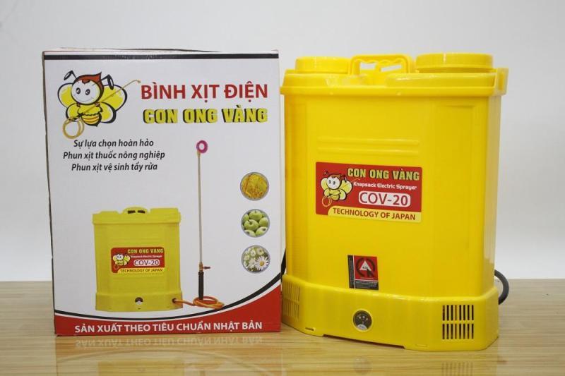 Bình Xịt Điện Con Ong Vàng 20D - Thời gian hoạt động sau khi sạc đầy 6 - 8 giờ - Bảo hành 12 tháng