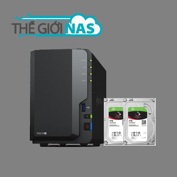 Bảng giá Combo Thiết bị lưu trữ mạng NAS Synology DS218+ và Ổ cứng Seagate Ironwolf 4TB Phong Vũ