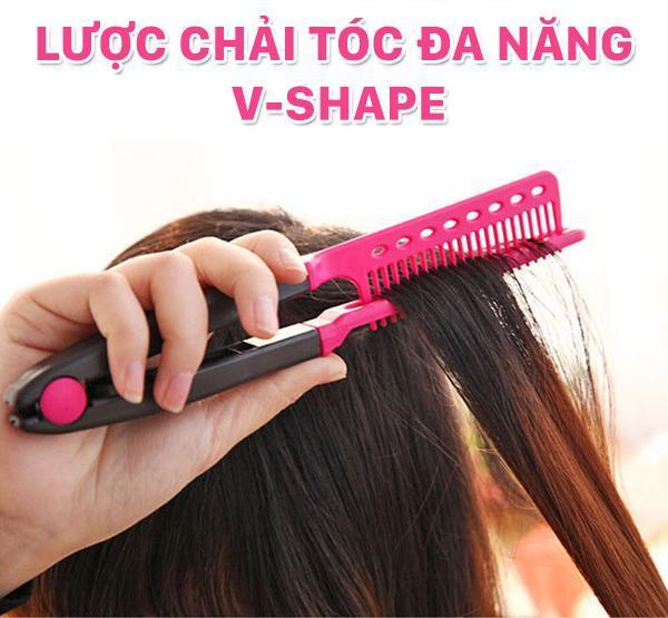 Lược chải tóc đa năng V-Shape - duỗi thằng - uốn cúp - phồng tóc 3in1 - Lavy Store giá rẻ