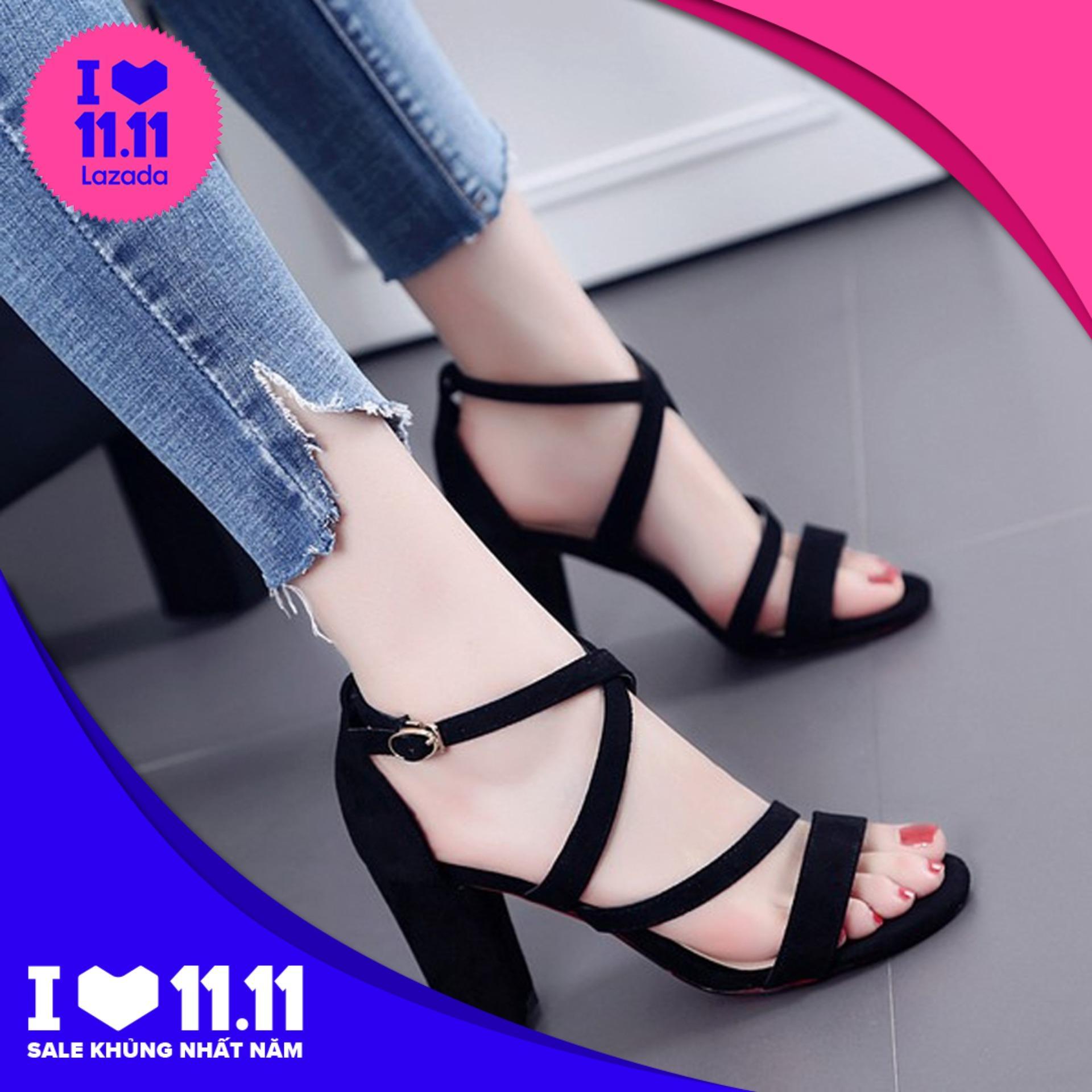 [Form bé, đặt tăng 1 size] Giày cao gót 7 phân mẫu số 6