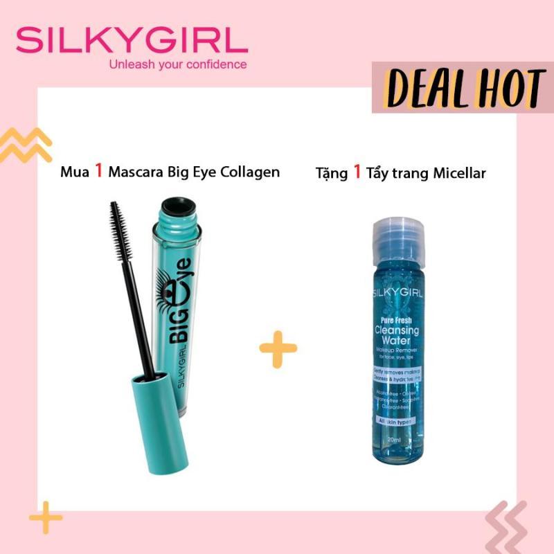 Combo Mascara SILKYGIRL Big Eye Collagen và Tẩy Trang cao cấp