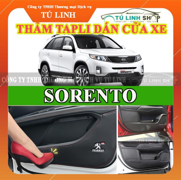 Bộ 4 Thảm Tapli dán cánh cửa chống trầy xước xe SORENTO 2016-2017