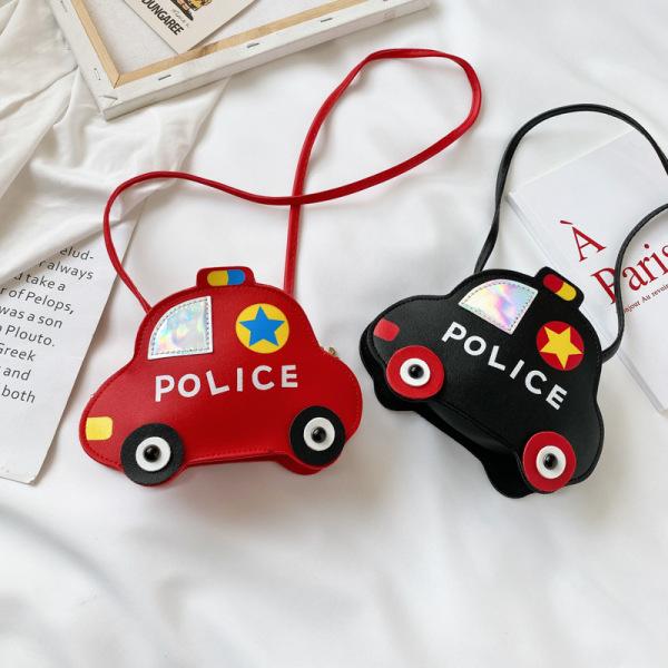 Giá bán Túi đeo chéo cho bé hình ô tô FUHA, túi đeo thời trang xinh xắn chất liệu da PU in chữ Police