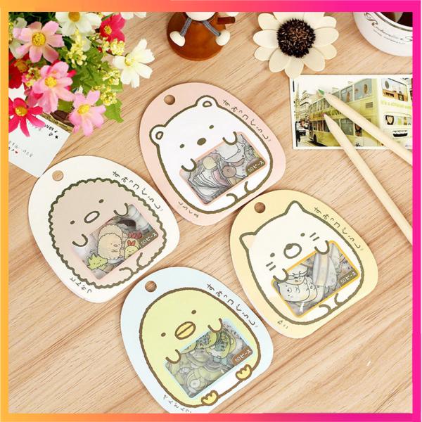 Mua Bộ 4 Sticker / miếng dán đẹp hình các con vật cute Gấu/ Gà / Cừu / Mèo cute 50 hình / bộ