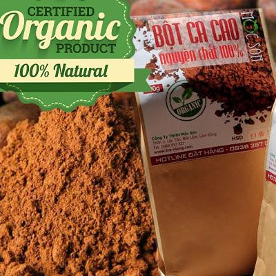 Ưu Đãi Giá cho 500g Bột Ca Cao Organic Nguyên Chất 100% Mộc Sơn Chuẩn Xuất Khẩu