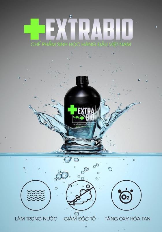 Extra bio tạo vi sinh cho hồ cá, vi sinh nước 500ml