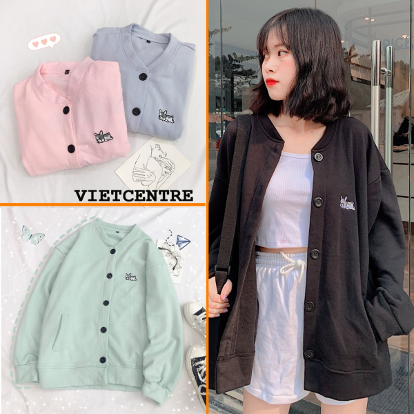 Áo Khoác Cardigan, Sweater, Jacket Pupy Uncover Form Rộng Unisex Nam Nữ Hot Trend  - VIETCENTRE