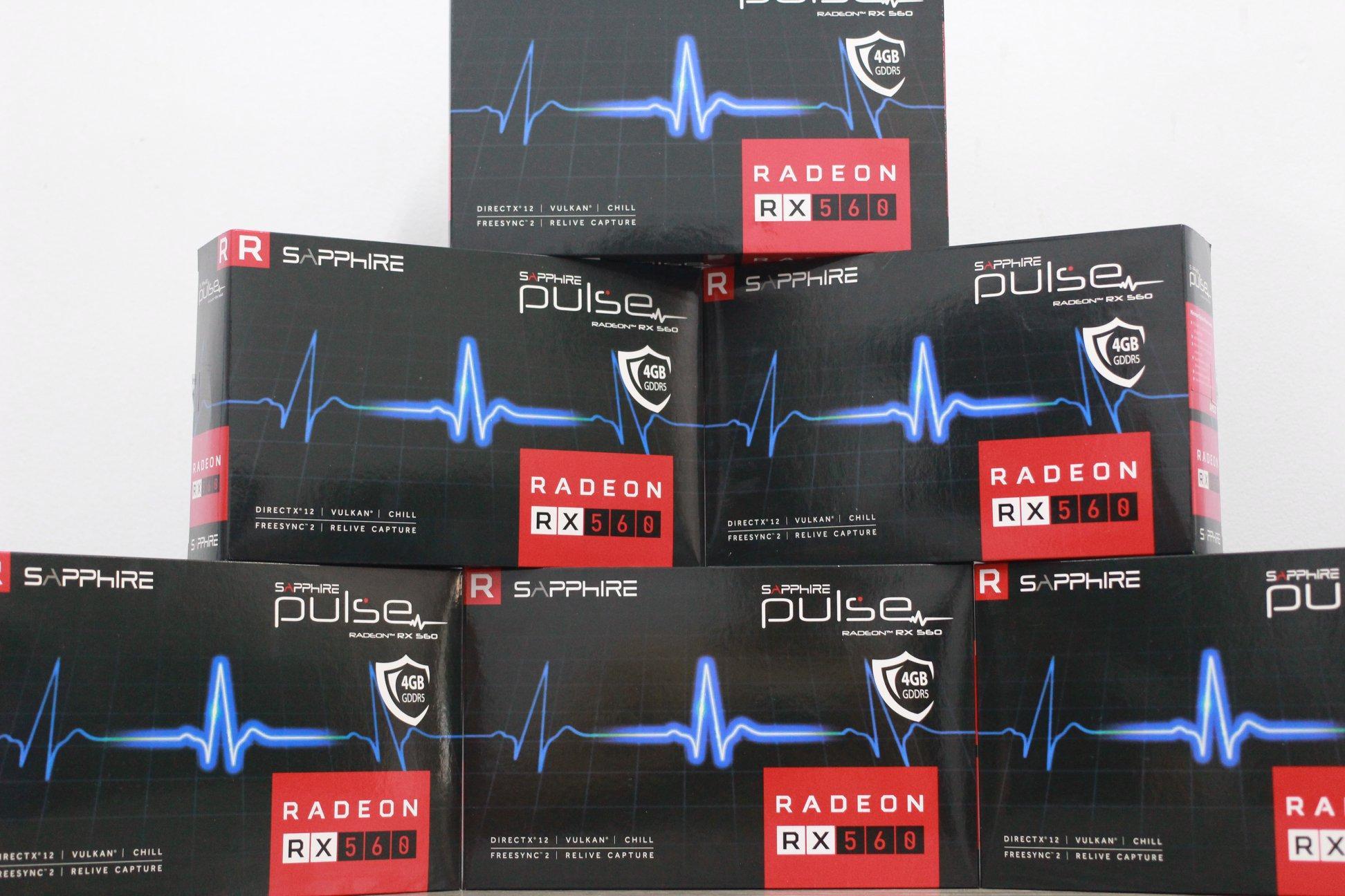 Card Màn Hình VGA AMD Sapphire RX560 4GB Pulse Fullbox Chuẩn Serial Bảo Hành McTech