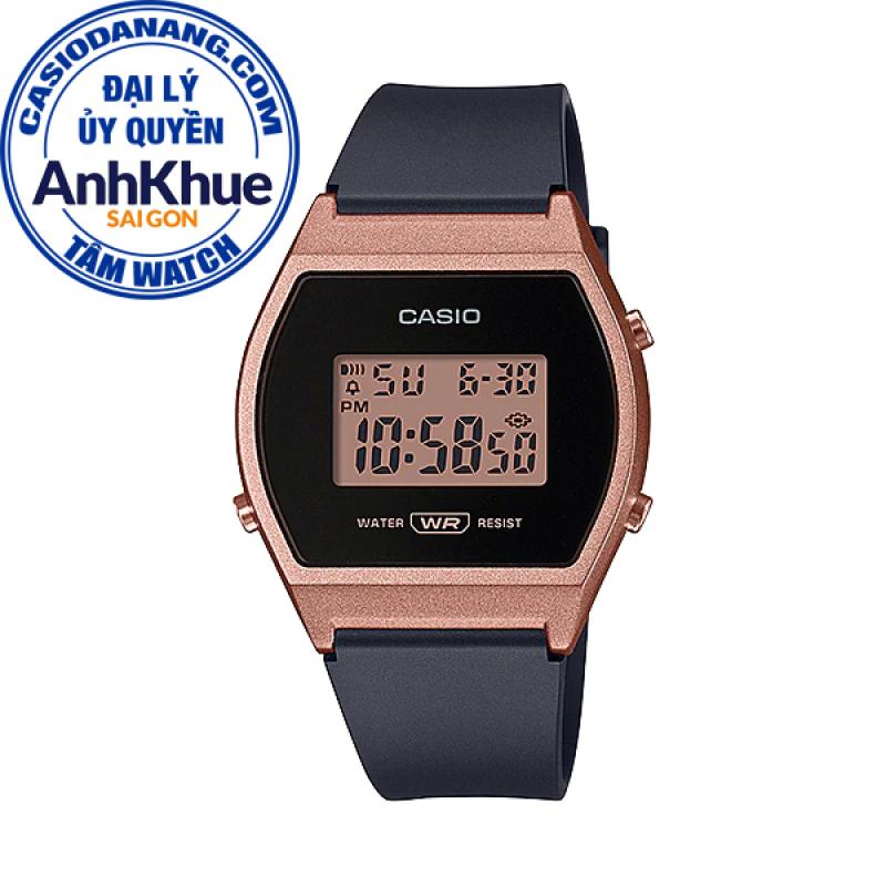 Đồng hồ nữ dây nhựa Casio Standard chính hãng Anh Khuê LW-204-1ADF