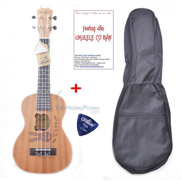 Đàn Ukulele Concert Music gỗ nguyên tấm âm sắc rõ ràng, độ vang tốt, có độ bền cao, tặng Bao đựng + Sách học +  Phím gảy - HappyLive Shop