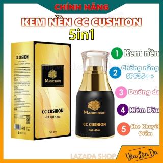 CC Cushion Kem Nền trang điểm, chống nắng dưỡng da Magic Skin Whitening Perfect 5in1 45ml (MỚI ) thumbnail