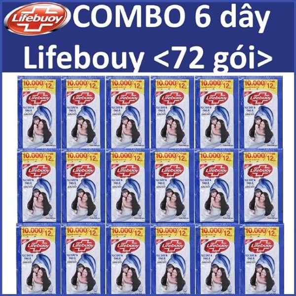 [HCM]COMBO 6 dây Lifebuoy Tóc dày óng ả 12 gói x6