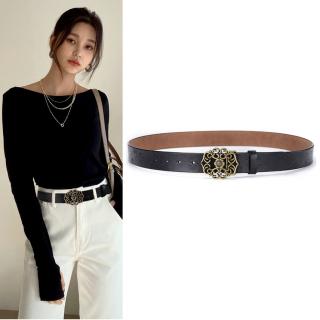 Thắt lưng dây nịt dây lưng nữ kiểu dáng thời trang, chất liệu da bò cao cấp, bản rộng 3.2cm thích hợp với quần jean, quần âu,váy, đầm NT166 thumbnail