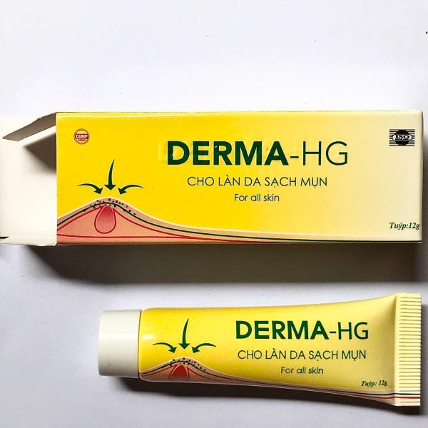 Kem dưỡng da mụn DERMA - HG thành phần nghệ và collagen giúp làn da sáng bóng và sạch mụn giá rẻ