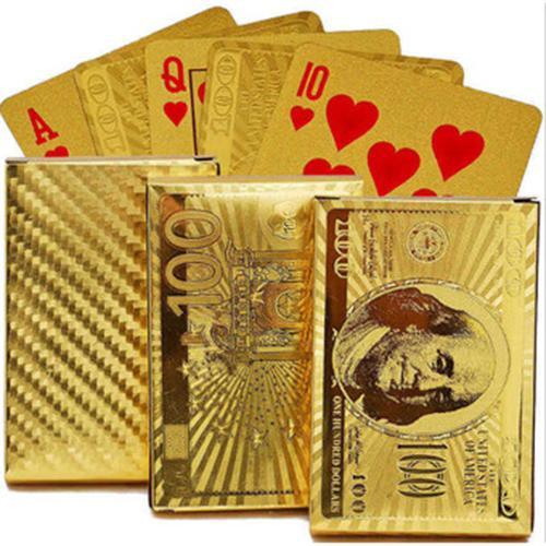 Bộ Bài Tây Mạ Vàng Hình Dolar, Euro