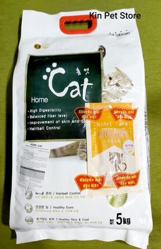 [Túi 5kg] Thức ăn cho mèo Home Cat - Phù hợp mọi lứa tuổi nhập, khẩu Hàn Quốc