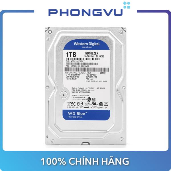 Bảng giá Ổ cứng HDD WD Blue 1TB SATA3 7200rpm (WD10EZEX) - Bảo hành Phong Vũ