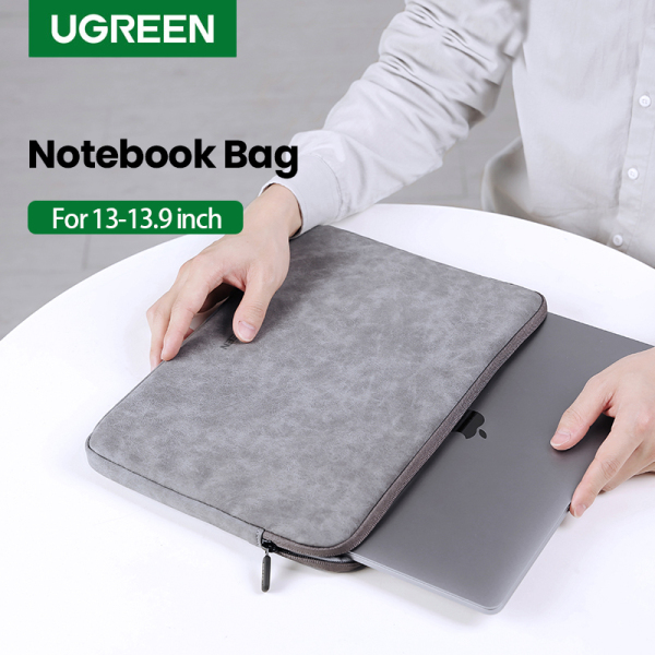 UGREEN Leather 13.3/15.4/16inch Bag Case Cover Laptop Case Accessories Storage Bag for iPad/iPad pro  Case Laptop Funda iPad Pro Air Sleeve Case