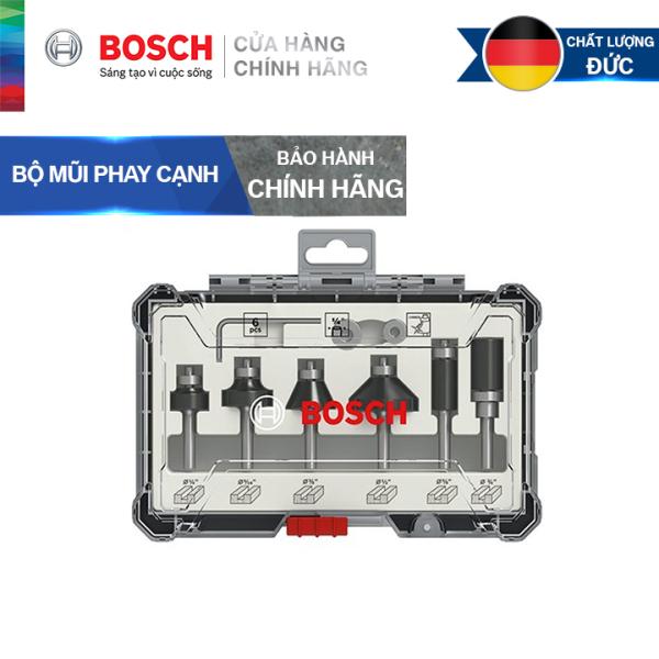 Bộ mũi phay cạnh Bosch 6 món