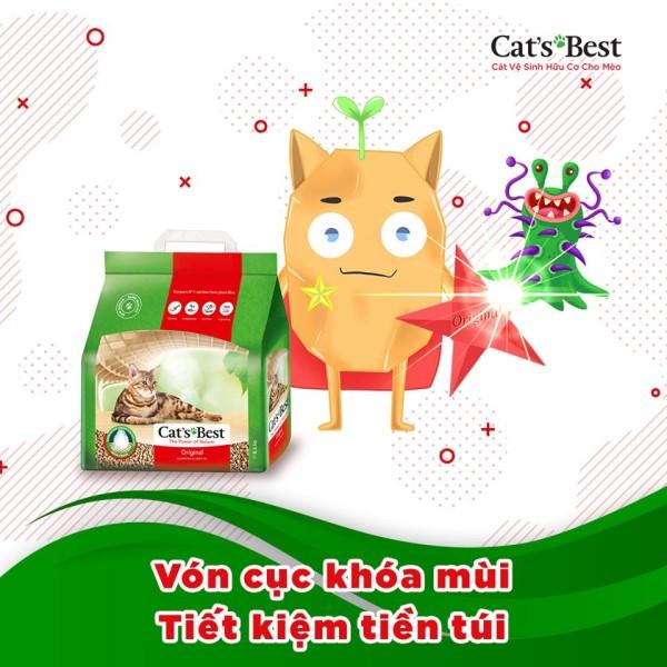 Cát vệ sinh hữu cơ Cats Best Original - 4.3kg sản phẩm đa dạng chất lượng tốt đảm bảo cung cấp mặt hàng đang dược săn đón trên thị trường