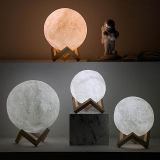 Đèn Ngủ Mặt Trăng Ver2021 size 10 cm 12cm 15 cm 18cm co điê u khiê n tư xa Tă ng Ke m đê Gô Ba o Ha nh 3 Tha ng thumbnail