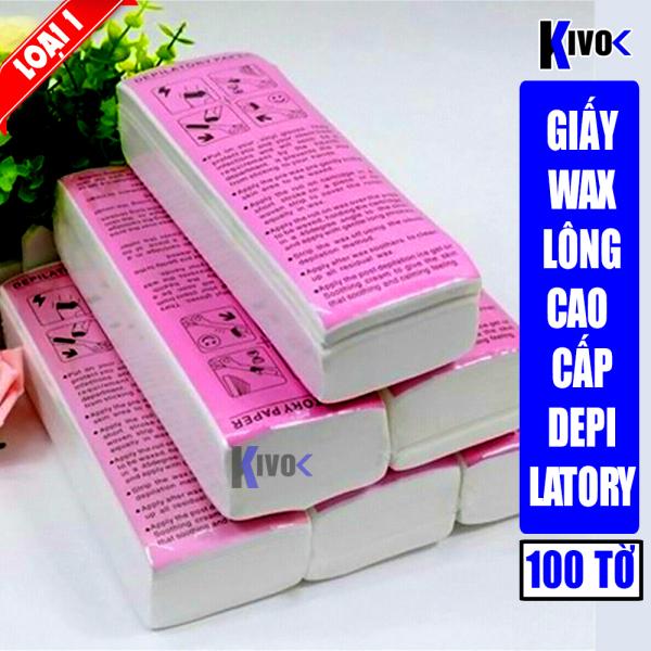 [LOẠI 1] Giấy Wax Lông 100 Tờ Cao Cấp- Miếng Was Triệt Lông Chân Tay Nách Depilatory Paper - Giấy Wax Tẩy Lông -