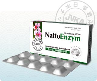 Natto Enzym - Thực phẩm bảo vệ sức khỏe phòng ngừa bệnh lý liên quan đến cục máu đông (Hộp 3 vỉ x 10 viên nang 670FU) thumbnail