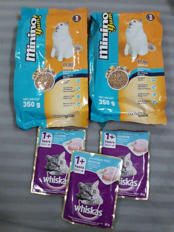 Combo MininoYum + whiskas hải sản mèo lớn