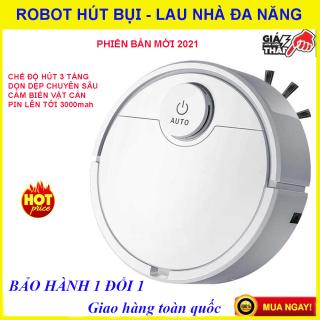 Robot hút bụi lau nhà đa năng, Robot hút bụi lau nhà thông minh, Pin trâu, lực hút siêu khỏe, Tự cảm biến, Chống va đập, Dễ dàng làm sạch các vị trí khó trong nhà như gầm giường, gầm tủ...Bảo hành 1 đổi 1, Mua ngay. thumbnail