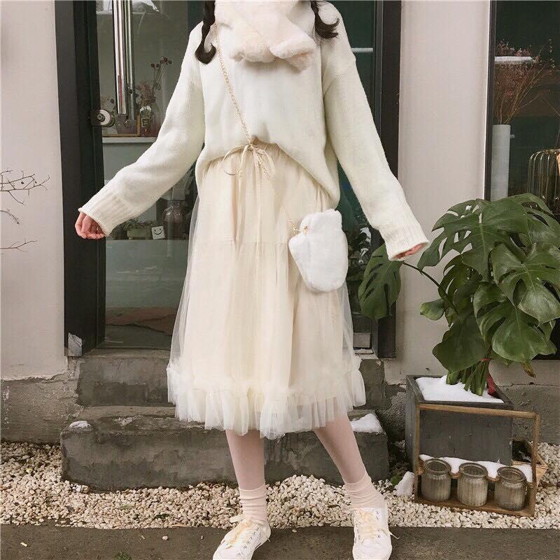 Chân váy dài kiểu mới xu hướng 2020 - MIN Boutiques - Váy lưới dài