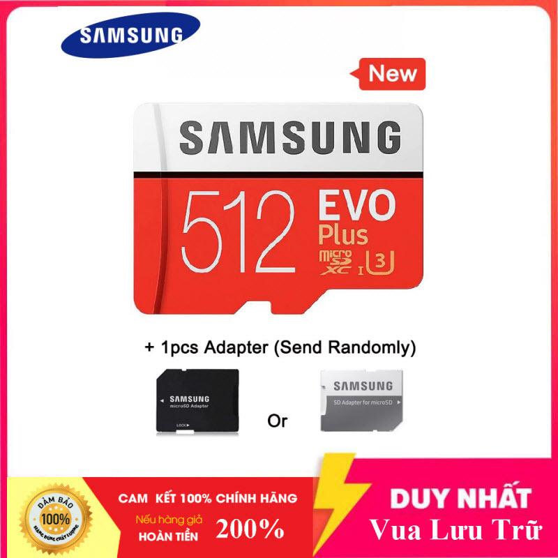 [Flash Sales] Thẻ nhớ MicroSDXC Samsung Evo Plus 512GB U3 4K R100MB/s W90MB/s - box Anh New 2020 (Đỏ) + Kèm Adapter