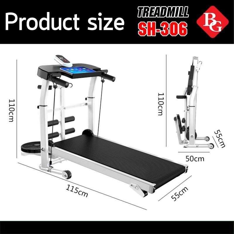 Bảng giá BG - Máy chạy bộ cơ 5 in 1 model SH-S306 Treadmill 2020 đa năng thích hợp cho cả người lớn và trẻ nhỏ tặng đĩa xoay eo cao cấp 360 độ
