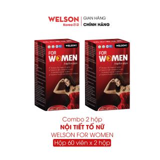 Combo 2 Hộp Viên Uống Cải Thiện Sinh Lý Nữ Welson For Women 2x60 viên thumbnail
