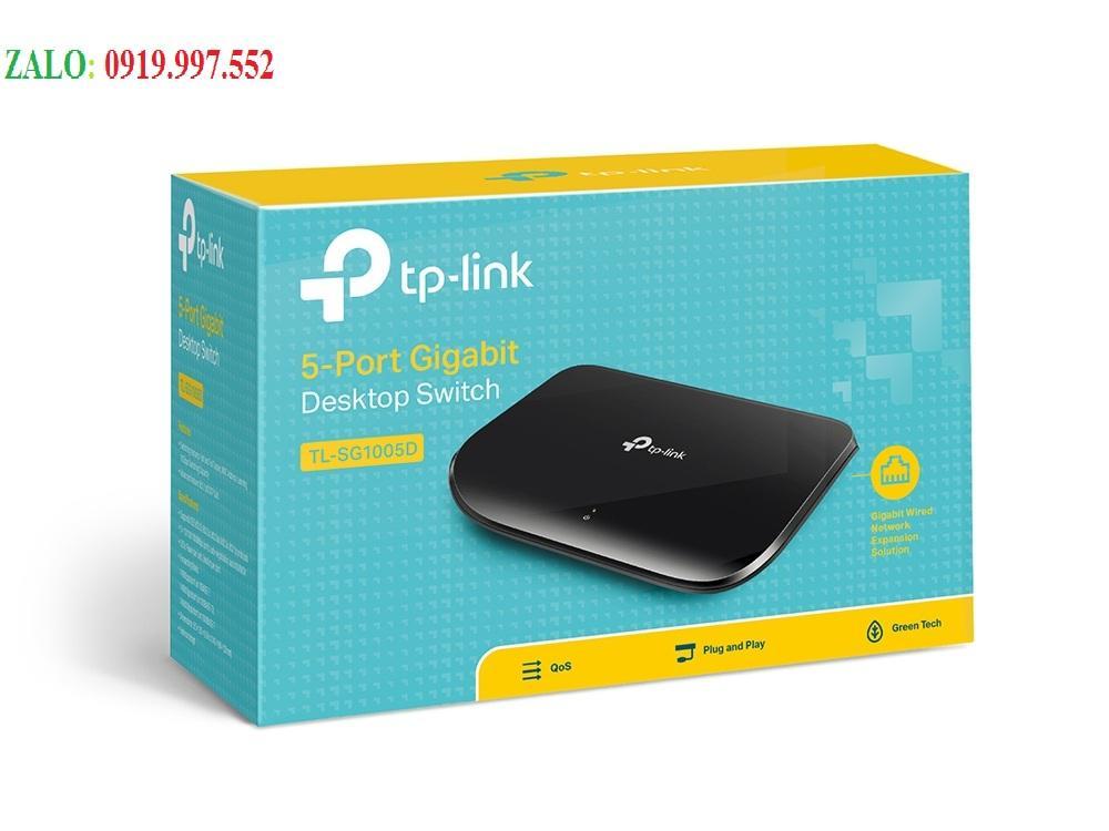 Giá 5-Port Gigabit Switch TP-LINK TL-SG1005D RJ45 tốc độ 10/100/1000Mbps