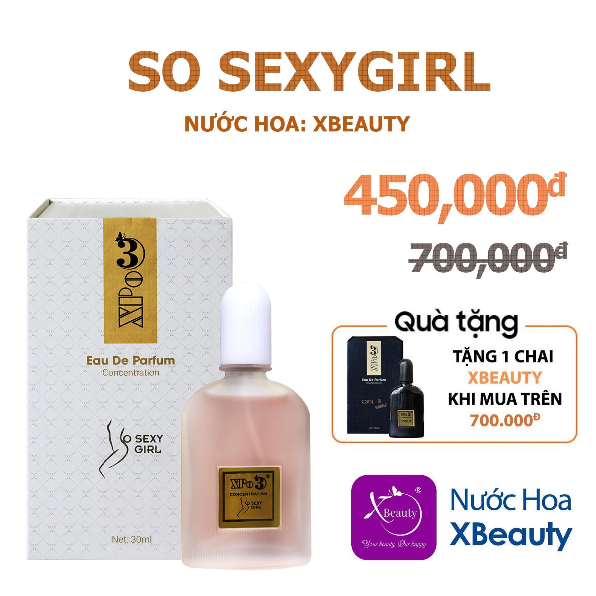 Nước hoa Nữ XBeauty XPo3 So S3xy Girl 30ml (GTIN: 8938511722024). Nước hoa cô đặc thơm lâu dành cho Nữ