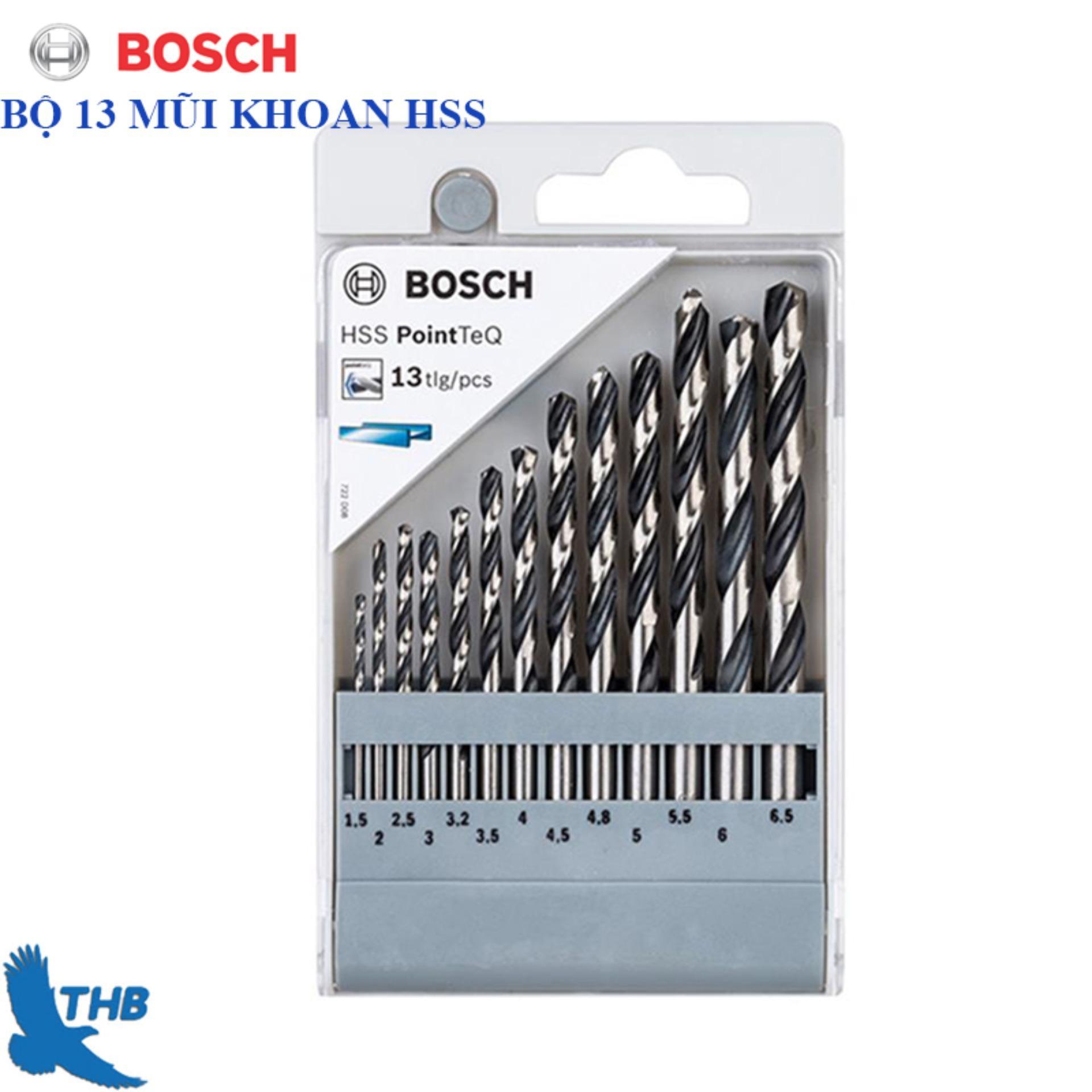 Bộ 13 mũi khoan Bosch HSS Point-2608577349