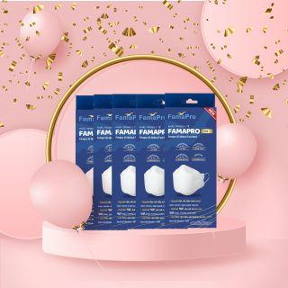 Combo 5 hộp khẩu trang y tế Famapro 4D 3 lớp thời trang chất lượng cao, BFE 99% (10 chiếc Hộp) - Hàng chính hãng thumbnail