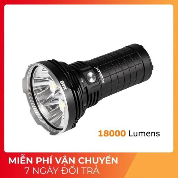 Bảng giá ACEBEAM X45 - Đèn pin chiếu xa bóng Led CREE XHP70.2 P2 độ sáng siêu khủng 18000 lumen tầm chiếu xa 660m sử dụng 4 pin 18650 (Kèm theo đèn)