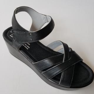 [HCM]Giày Sandal Nữ Đế Xuồng BIGBEN Da Bò Thật Cao Cấp thumbnail